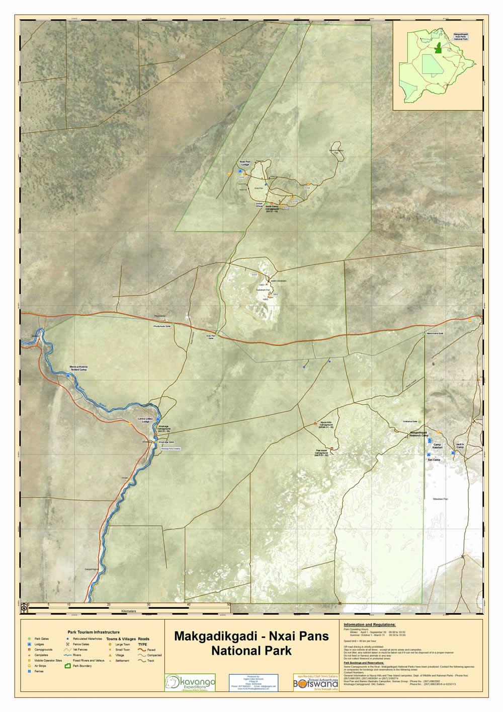 Mkgadikgadi Park Map